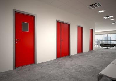 Двери HPL облегчённые, усиленные, EI 30 с алюминиевой коробкой
